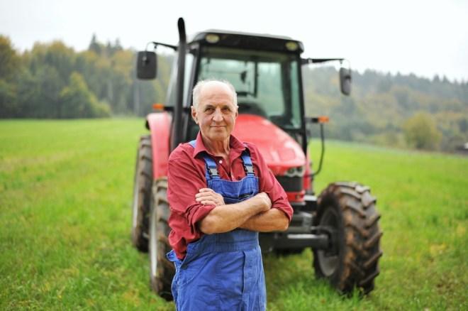 proud happy farmer