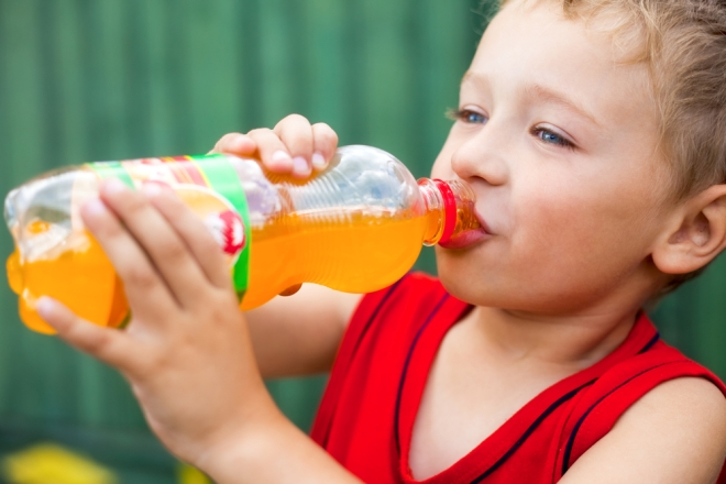 kid sugary drink