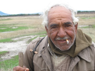 A shepherd who shared his lunch with me in Macedonia