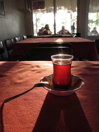 Early morning cafe, Turkey