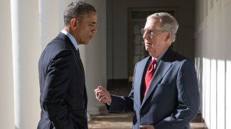 President Obama and Mitch McConnell