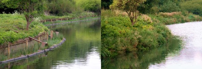 River Brent before and after.