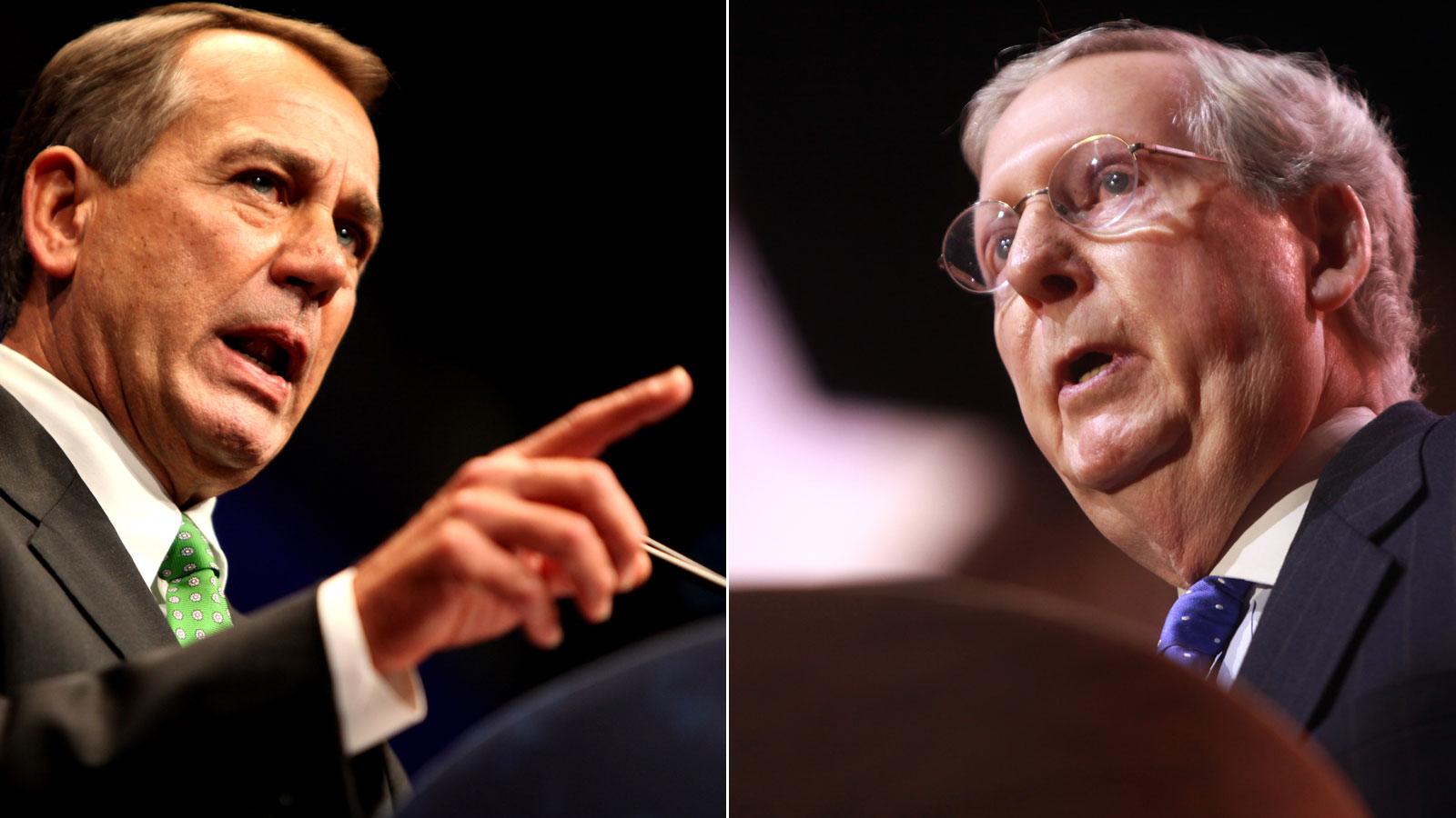 John Boehner & Mitch McConnell