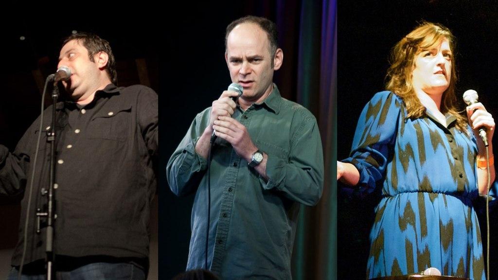 Eugene Mirman, Todd Barry, & Maeve Higgins.