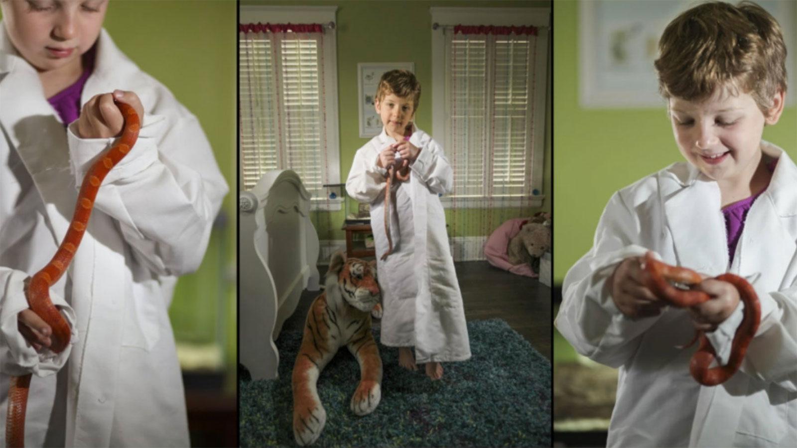 Girl scientist