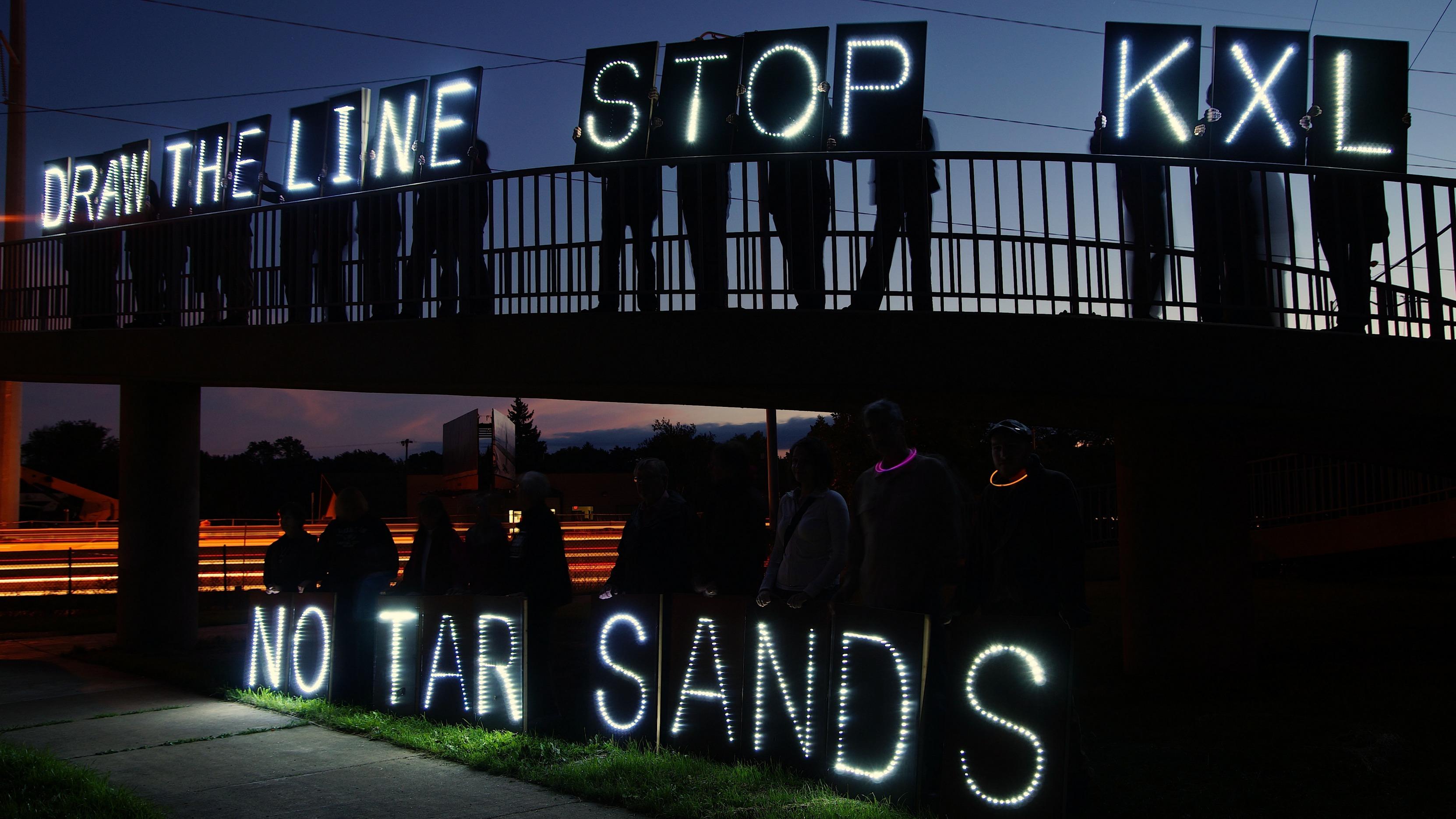 no tar sands protest