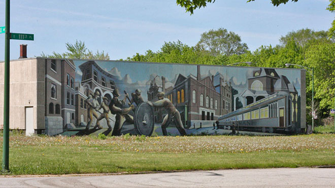 Mural in Pullman, Chicago.