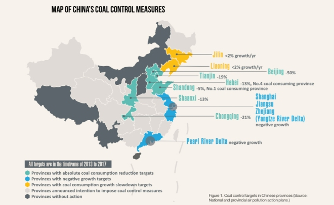 Twelve Chinese provinces have already pledged to implement coal control measures.
