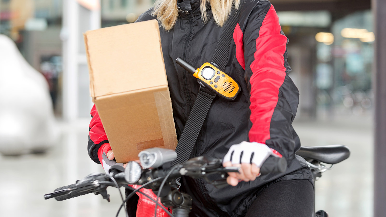 Amazon delivery by bicycle