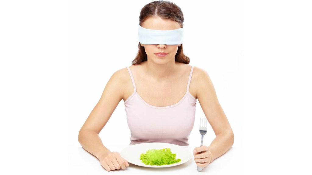 Blindfolded eater