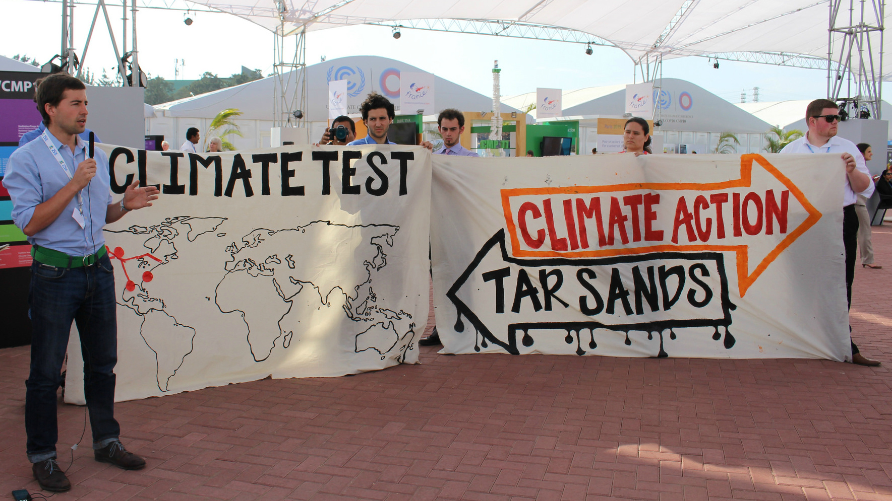 """""""climate action"""" sign"""