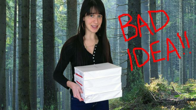 eve-with-paper-in-forest_badidea