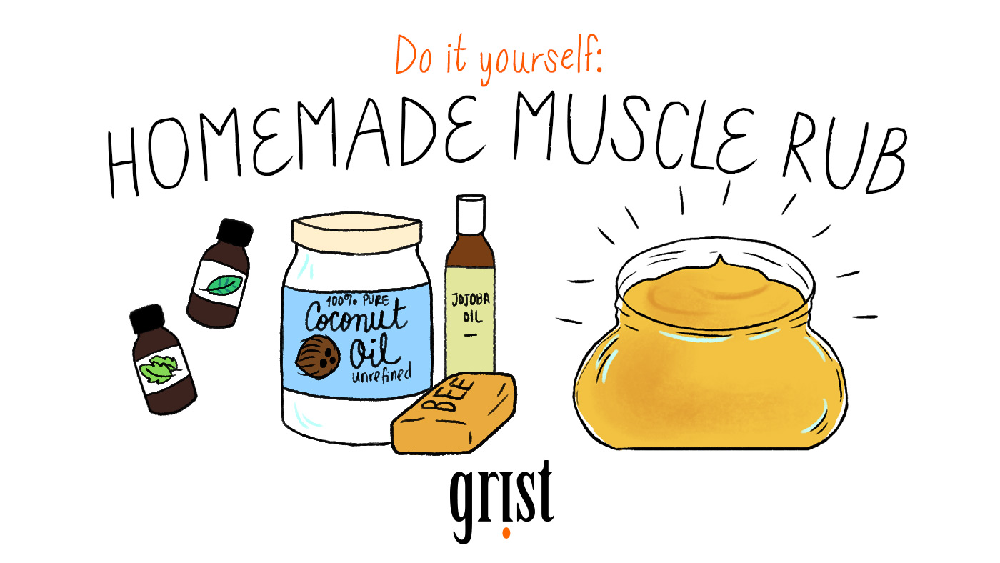 Do it yourself: Homemade muscle rub