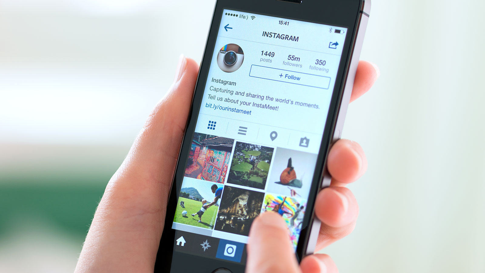 Instagram on an iPhone