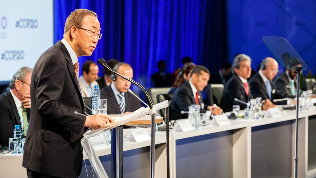 Ban Ki-moon and others at Lima