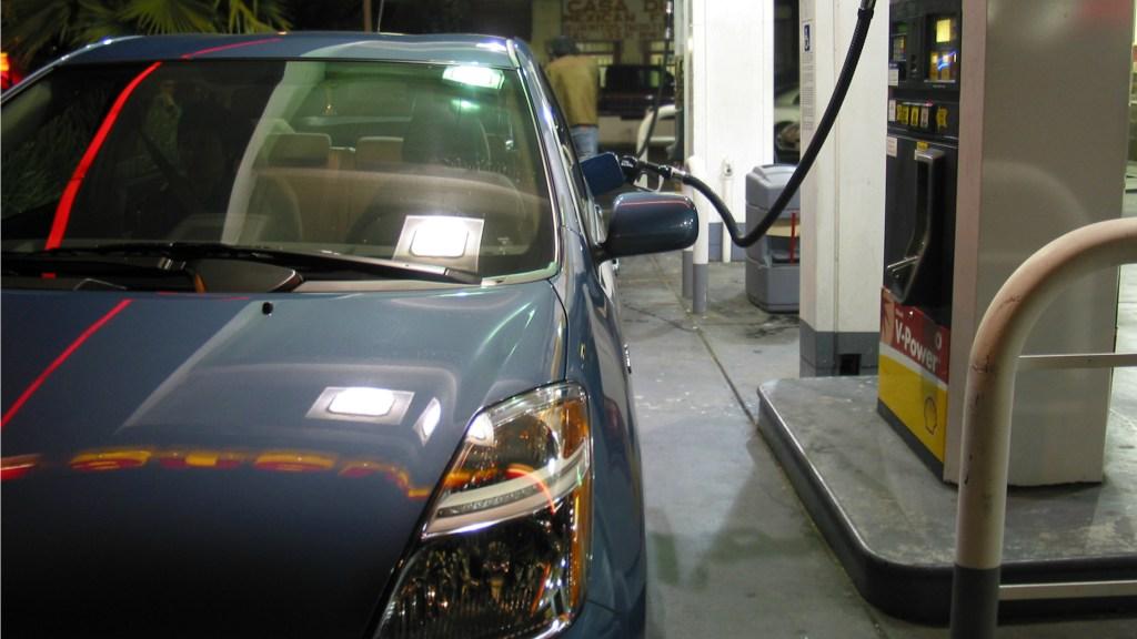 Prius at gas station