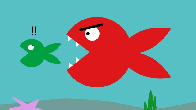 Big fish gobbling up little fish