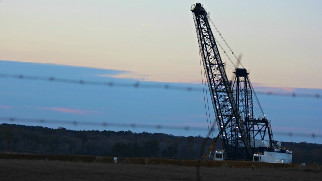 crane at Kemper County Energy Facility, Mississippi
