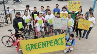 Greenpeace activists in India