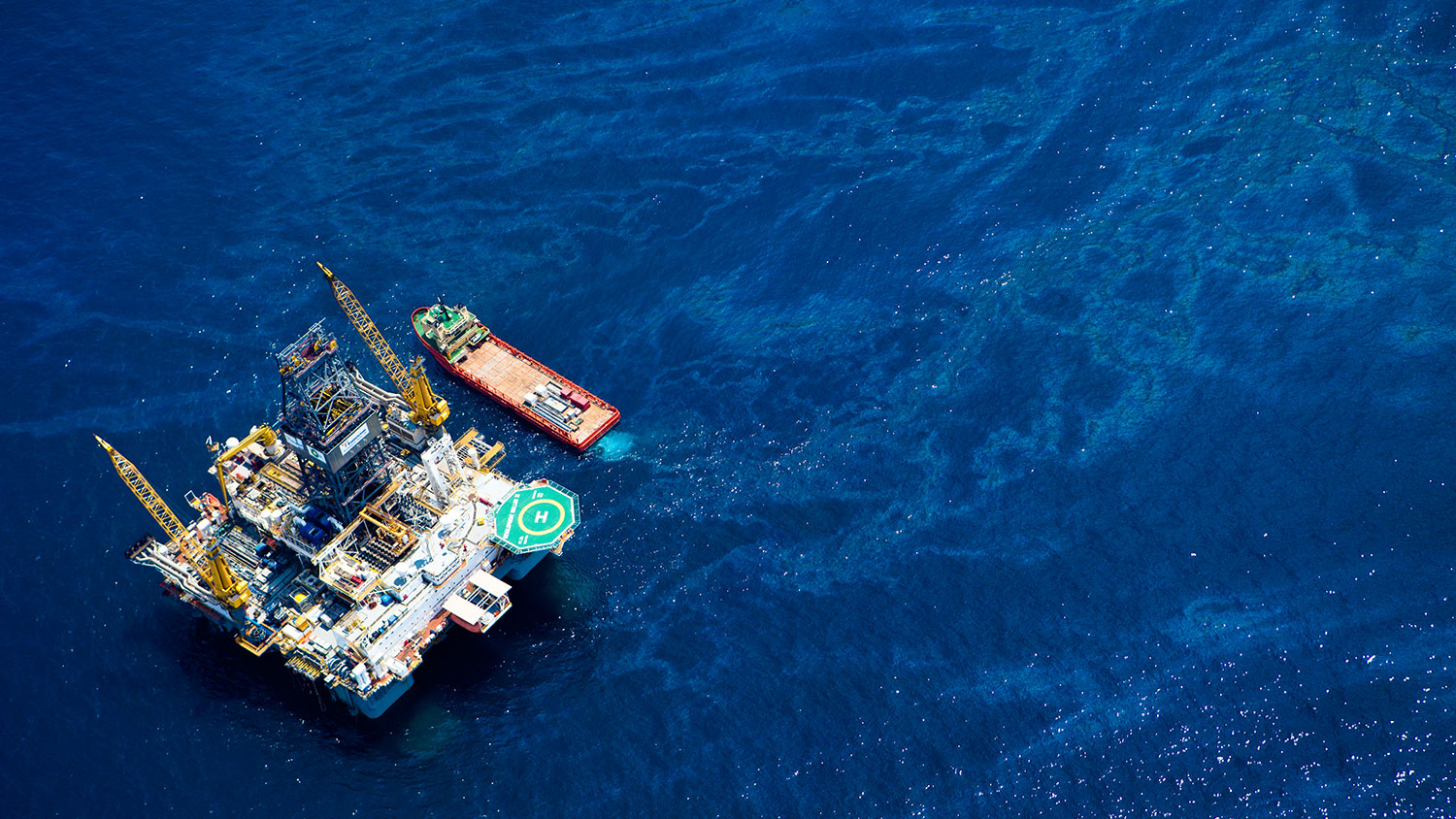 drilling rig in Gulf of Mexico