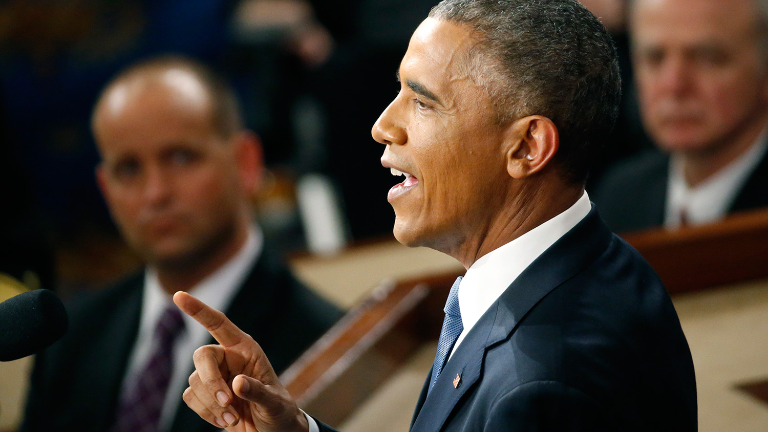 U.S. President Barack Obama delivers his State of the Union address to a joint session of the U.S. Congress on Capitol Hill in Washington, January 20, 2015.
