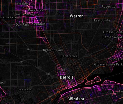 Running Map Detroit
