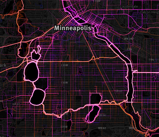 Running Map Minneapolis