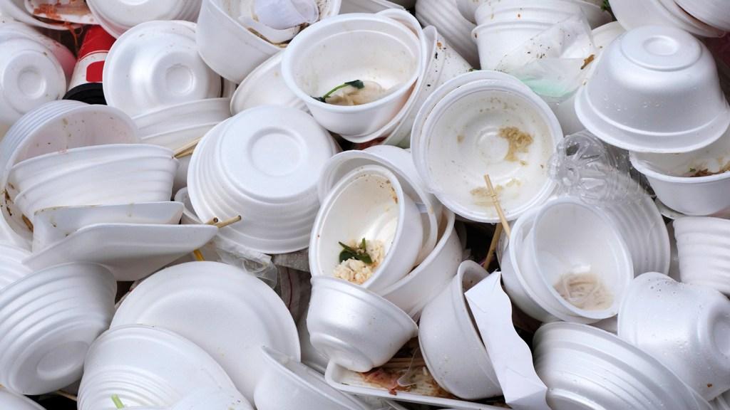 Styrofoam garbage