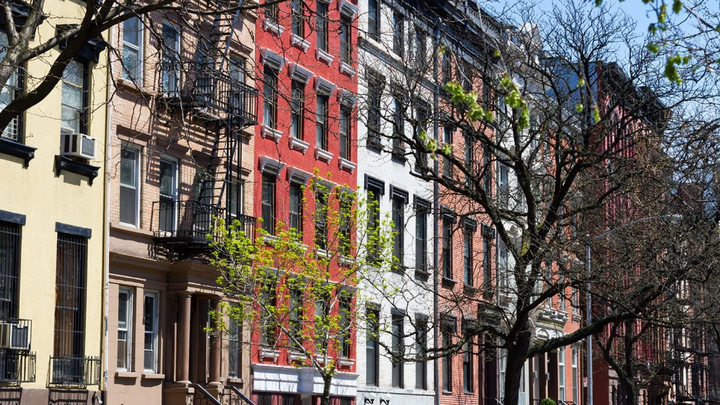Brownstones in New York City