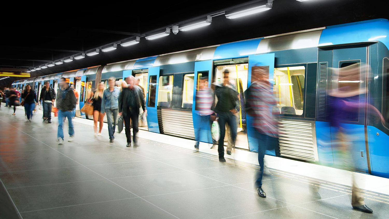 busy subway platform