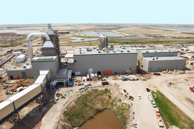 The carbon-capture plant.