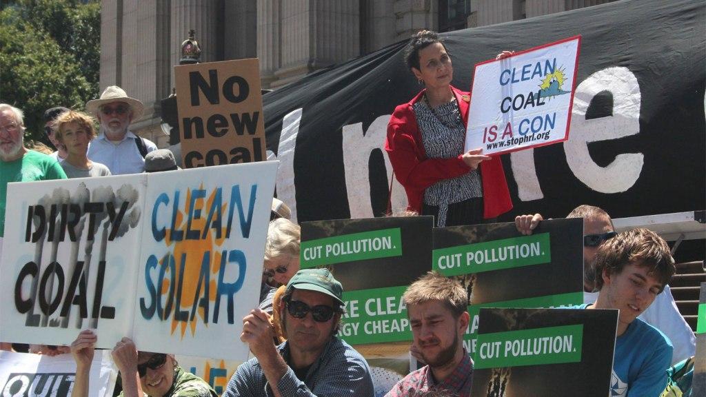 anti-coal protest