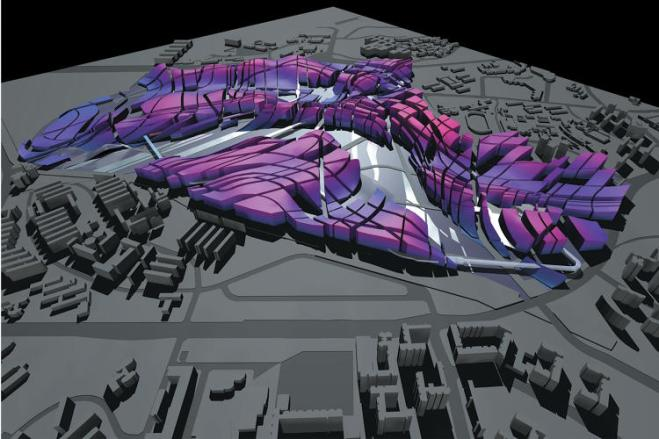 Singapore (2001-2021): This city masterplan was developed using parametric software that evolves urban architecture from the natural landscape.