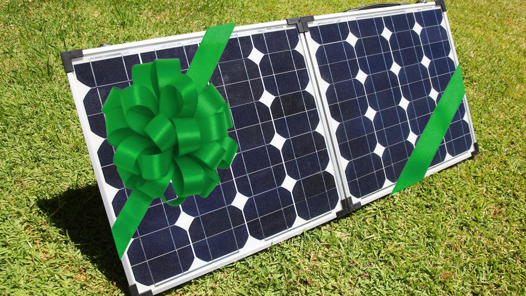 solar panel with bow