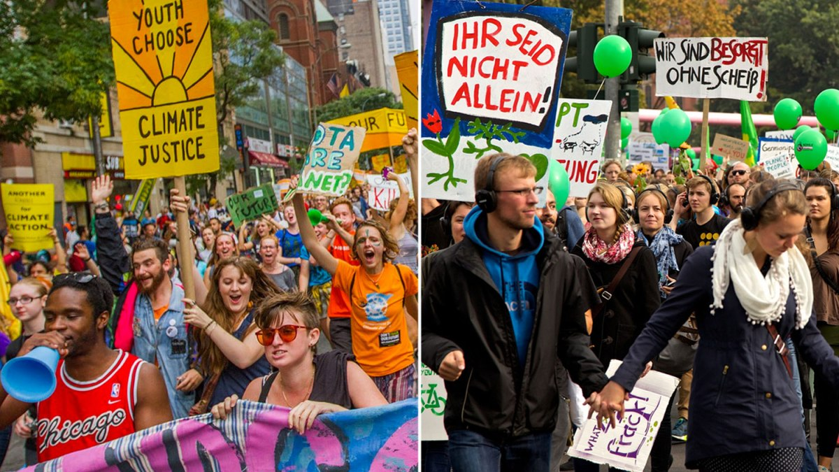 Activists in U.S. and Germany