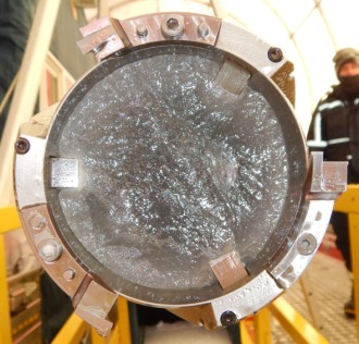 """""""This year,"""" Fudge said, """"we collected the Holocene."""" In ice core form."""