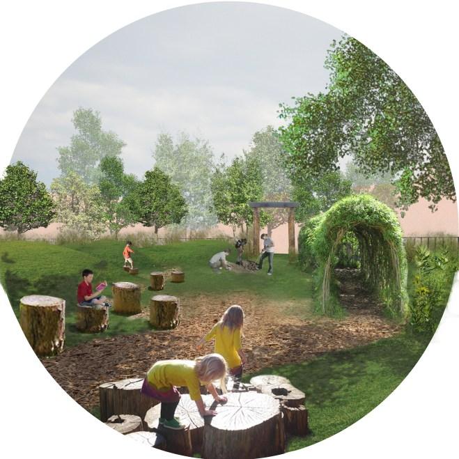 Rendering of Jardincito in Little Village