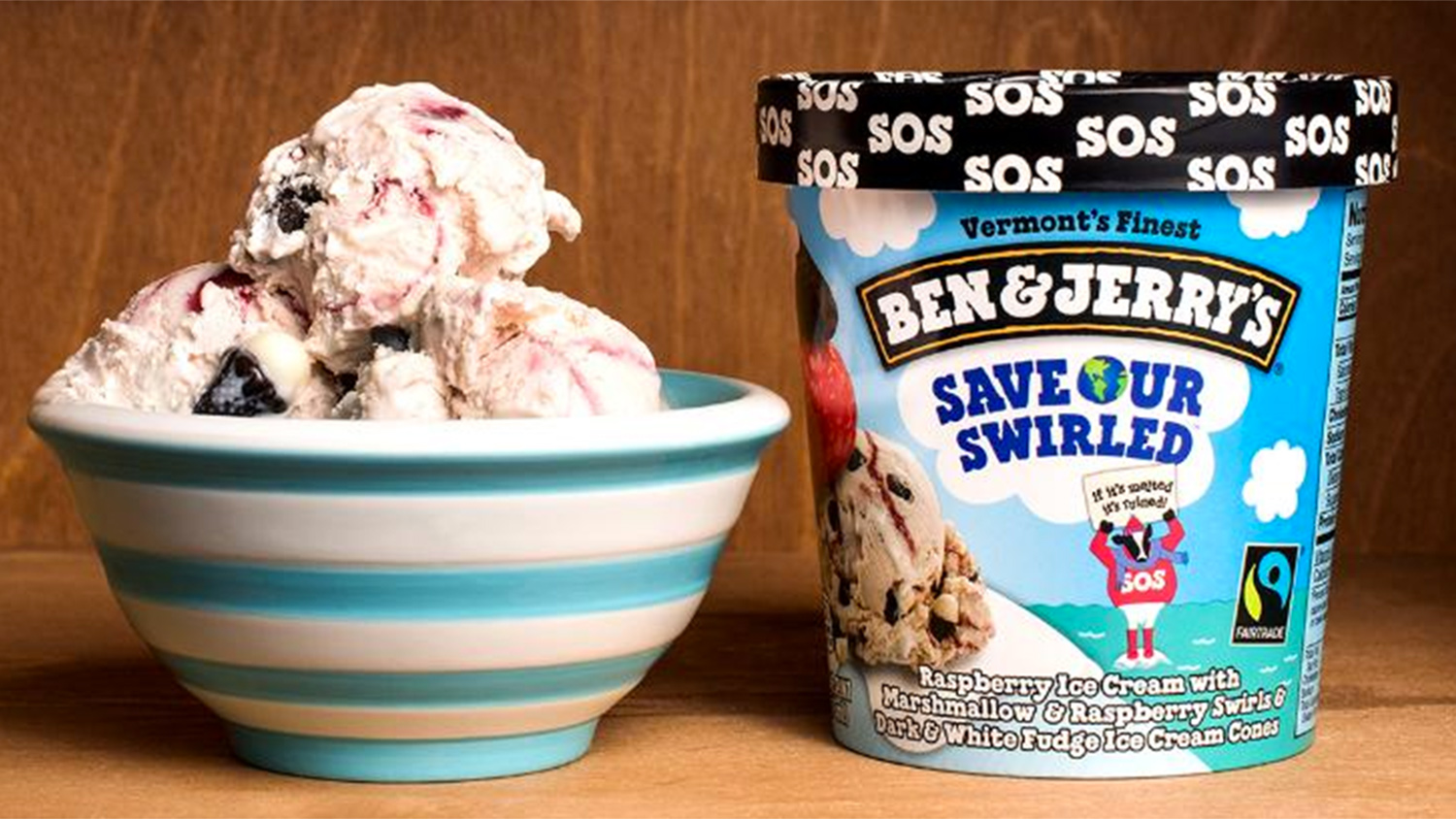 Save Our Swirled ice cream container