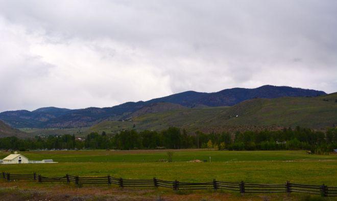 Farmland on the edge of Twisp, Wash.