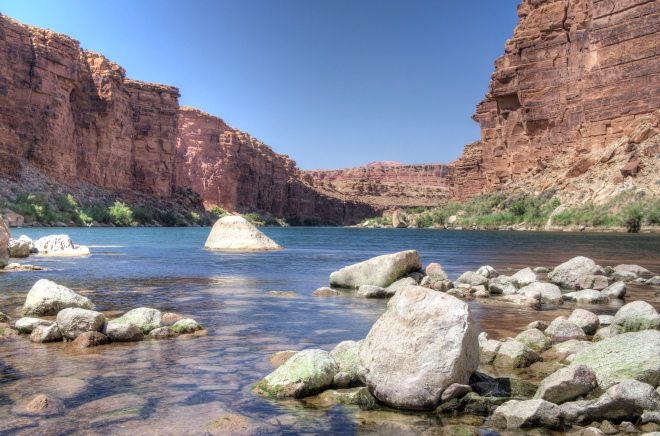 Colorado River in Marble, Canyon, Arizona.