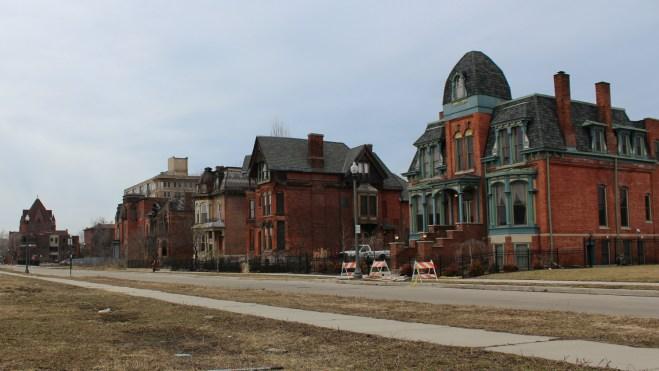Houses in Brush Park, Detroit.