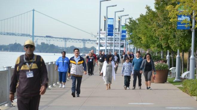 The Detroit Riverwalk.