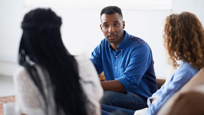 African Americans conversing