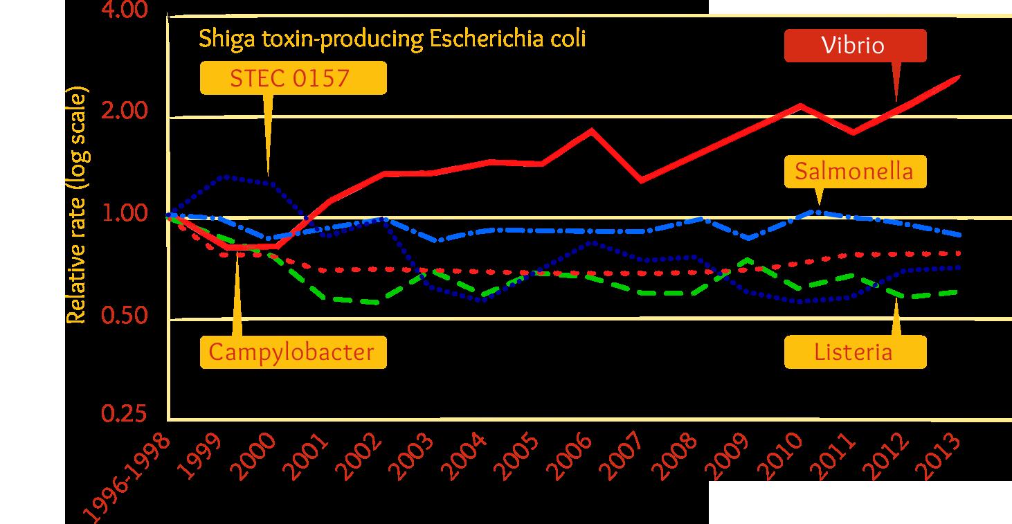 Chart: Contamination between 1996-2013