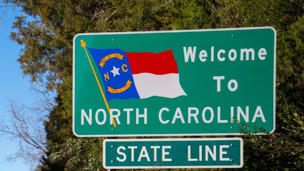 """Welcome to North Carolina"" sign"