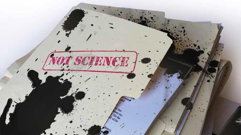 oil-splattered file folders