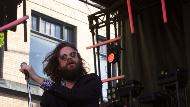 Father John Misty performing at Capitol Hill Block Party.