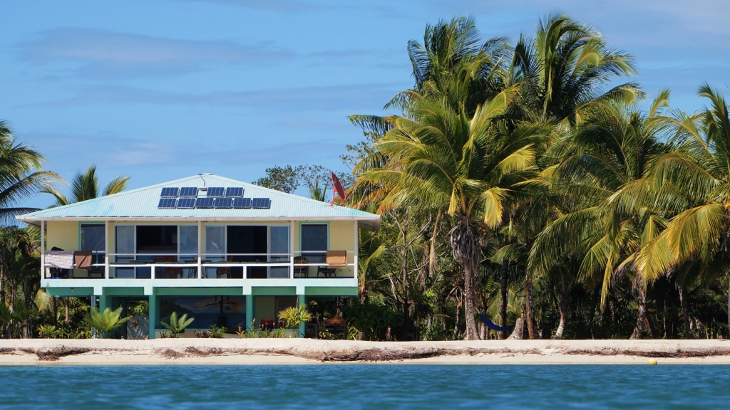beach house with solar