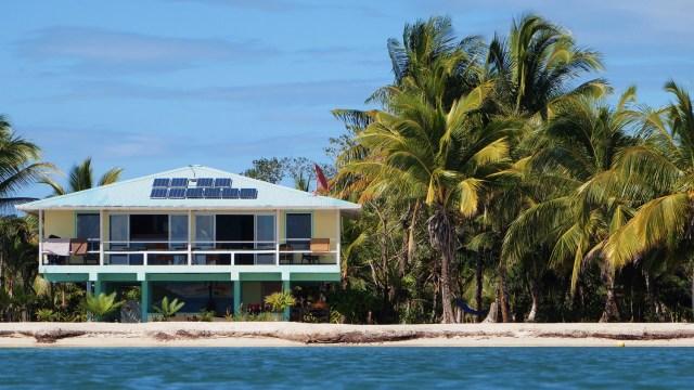 beach house with solar