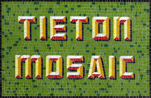 A prototype from the Tieton Mosaic Project, which aims to create a striking visual personality for the small town.